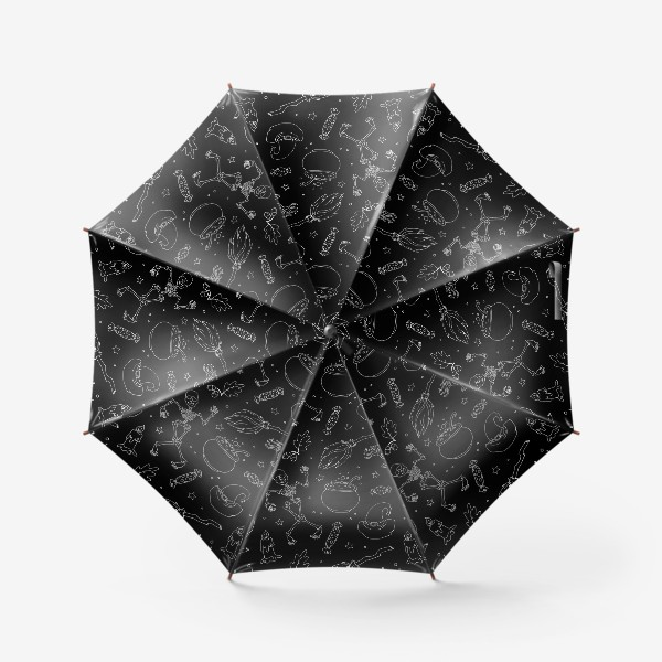 Зонт «Магический принт на хэллоуин»