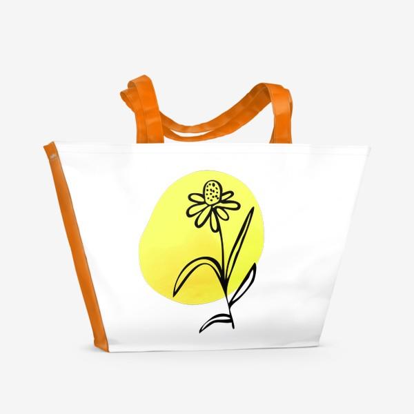 Пляжная сумка «Ромашка. Абстракция»