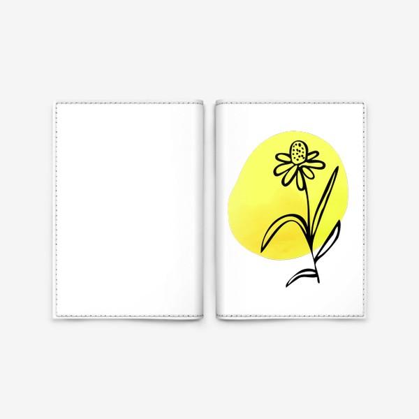 Обложка для паспорта «Ромашка. Абстракция»