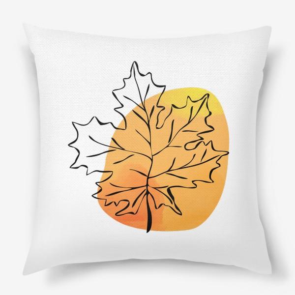 Подушка «Кленовый лист. Абстракция»