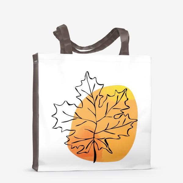 Сумка-шоппер «Кленовый лист. Абстракция»