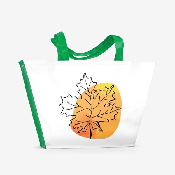 Пляжная сумка «Кленовый лист. Абстракция»