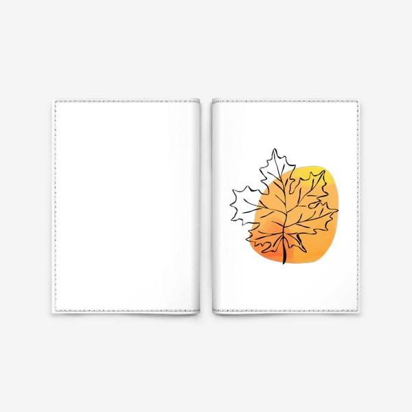 Обложка для паспорта «Кленовый лист. Абстракция»