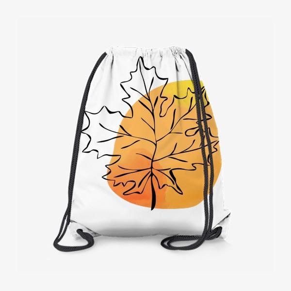 Рюкзак «Кленовый лист. Абстракция»