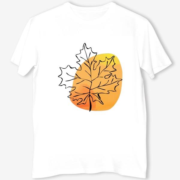Футболка «Кленовый лист. Абстракция»