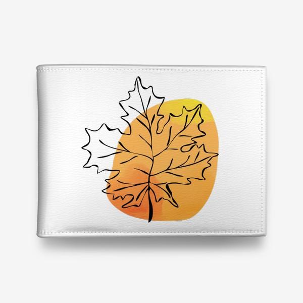 Кошелек «Кленовый лист. Абстракция»