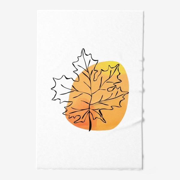 Полотенце «Кленовый лист. Абстракция»