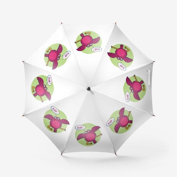 Зонт «Дерзкая птичка - каратист»