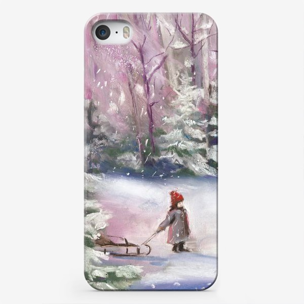 Чехол iPhone «Поход за елкой»