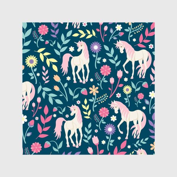 Шторы «Fairy unicorns and flowers »