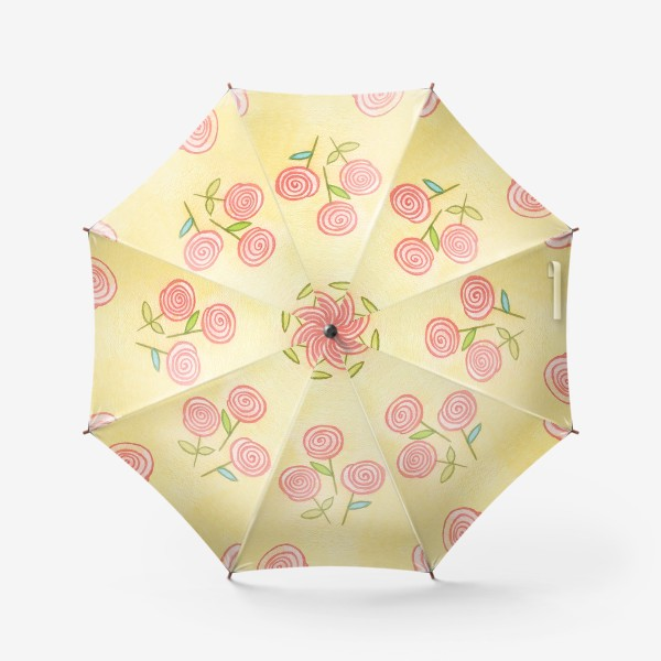 Зонт «1 сентября. Букет учителю.»