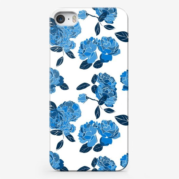 Чехол iPhone «Букет синих роз»