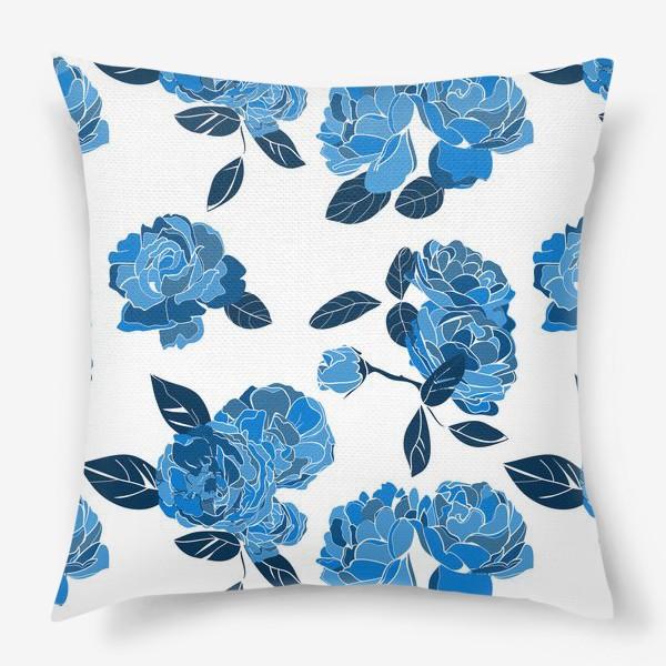 Подушка «Букет синих роз»