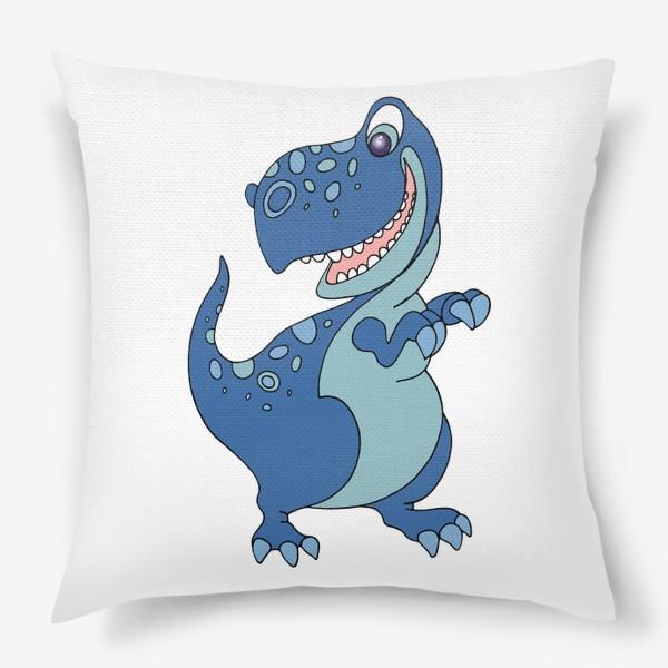 Подушка «Забавный динозавр.»