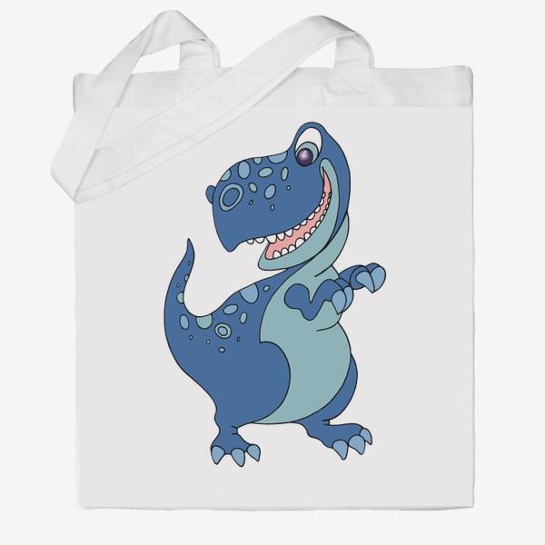 Сумка хб «Забавный динозавр.»