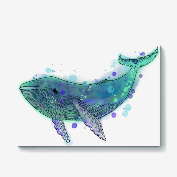 Холст «Горбатый кит»