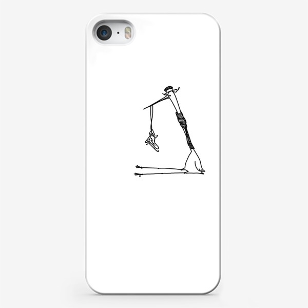 Чехол iPhone «Птица с коньками. Ждет зимы»