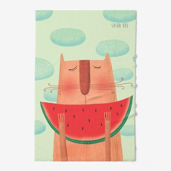 Полотенце «Кот с арбузом»