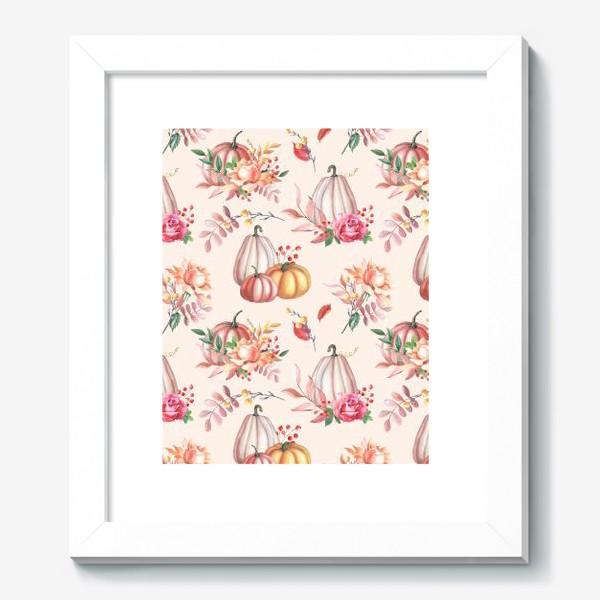 Картина «Осенние тыквы и розы»