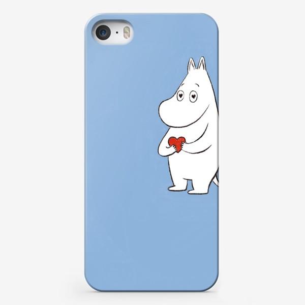 Чехол iPhone «Муми-тролль любовь сердце 8 марта»