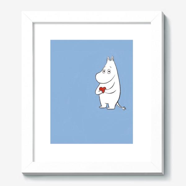 Картина «Муми-тролль любовь сердце 8 марта»