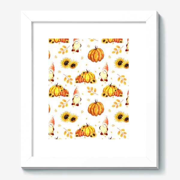 Картина «Осенние гномы с тыквами»