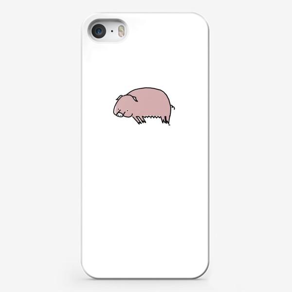 Чехол iPhone «Свинка лежит на боку»