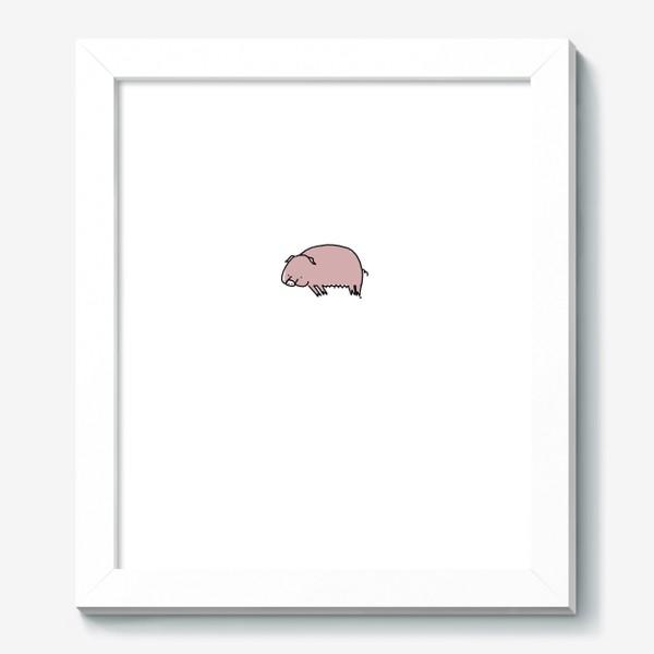 Картина «Свинка лежит на боку»