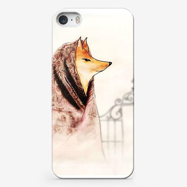 Чехол iPhone «Лиса в павлопосадском платке»