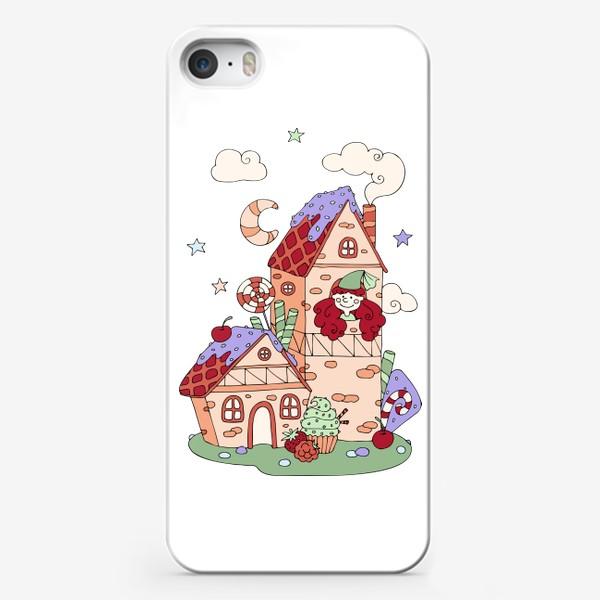 Чехол iPhone «Забавная принцесса в башне, принт для девочек»