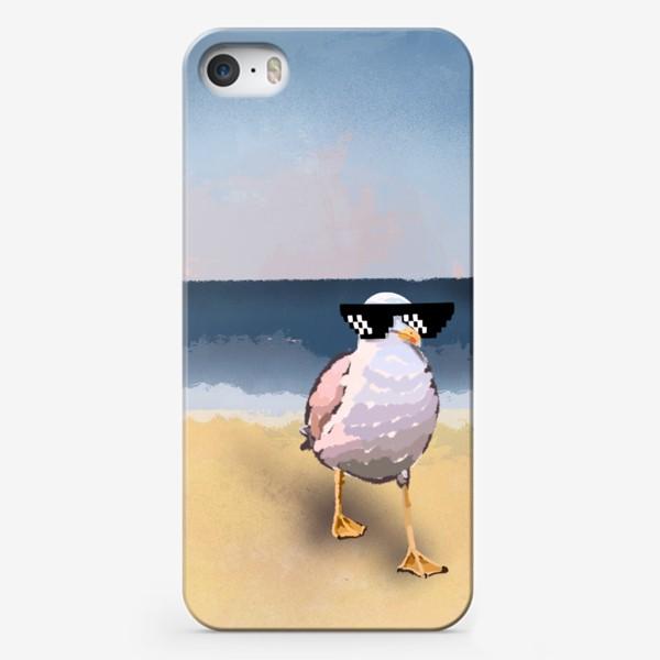 Чехол iPhone «Чайка море песок лето пляж бархатный сезон»