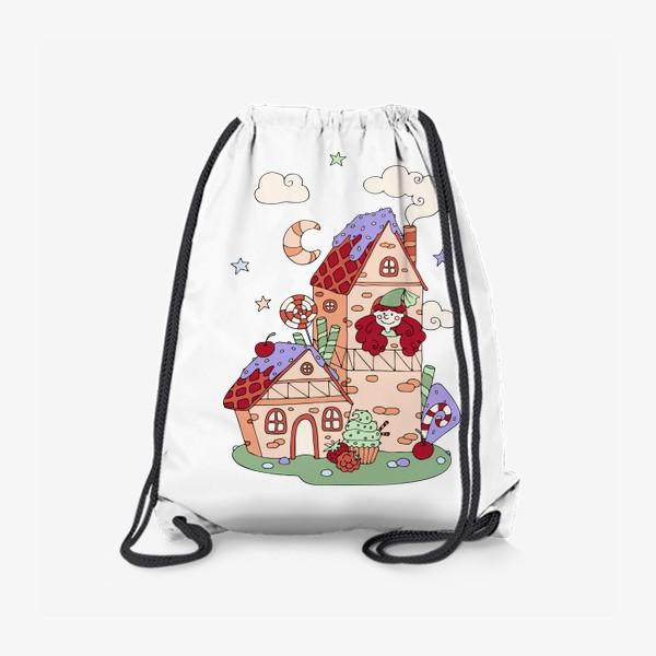 Рюкзак «Забавная принцесса в башне, принт для девочек»