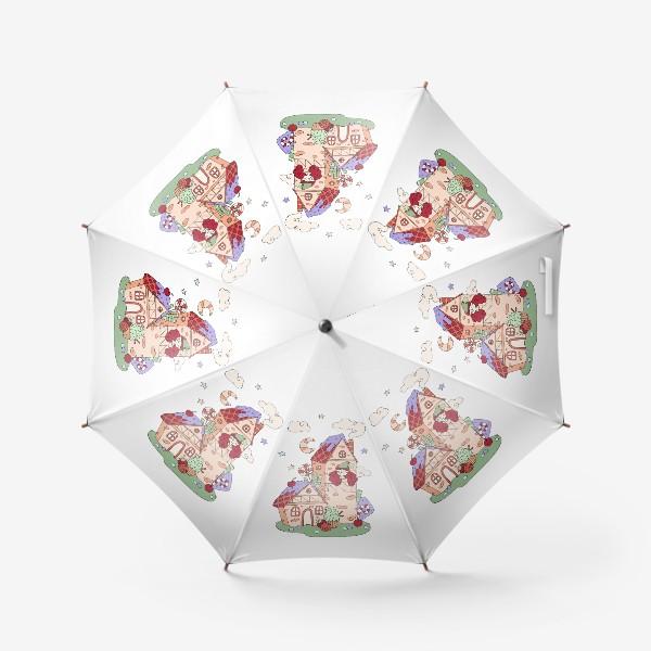 Зонт «Забавная принцесса в башне, принт для девочек»