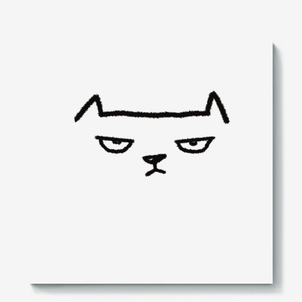 Холст «Кот недовольный»