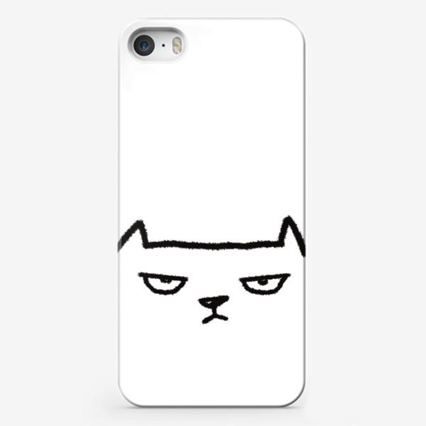 Чехол iPhone «Кот недовольный»