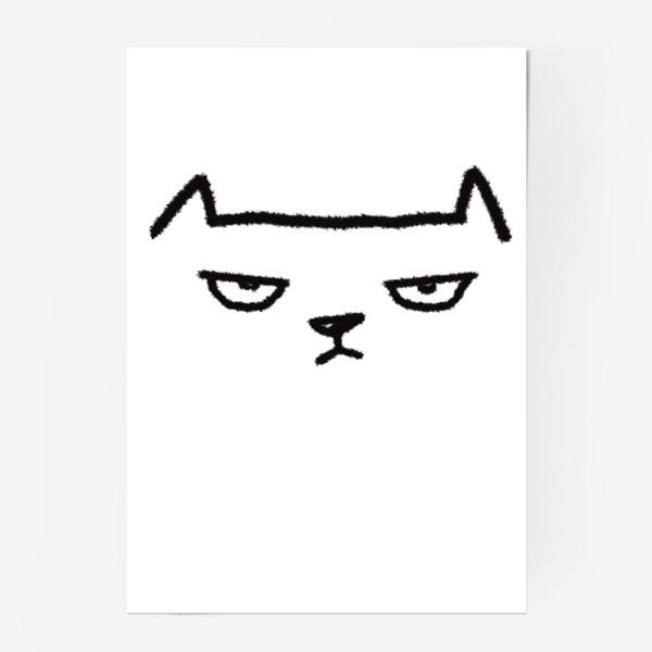Постер «Кот недовольный»