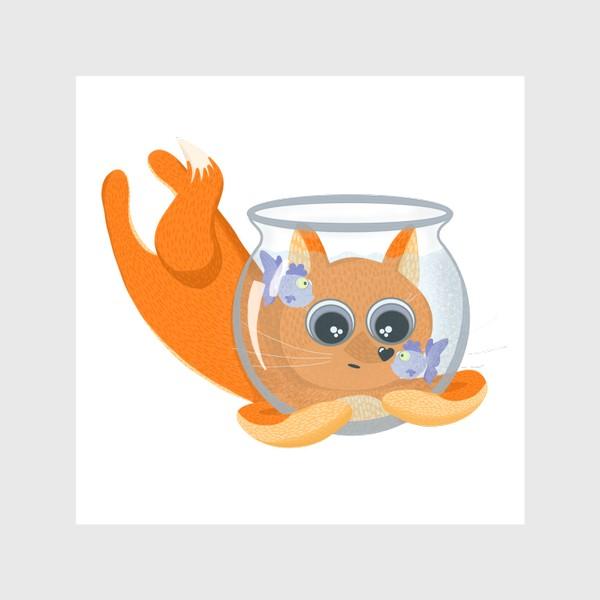 Шторы «Лиса фыр-фыр с аквариумом»