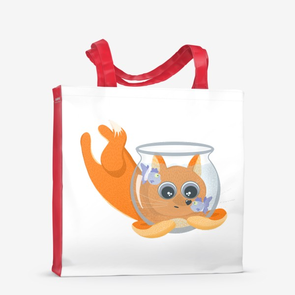 Сумка-шоппер «Лиса фыр-фыр с аквариумом»