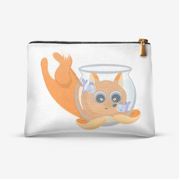 Косметичка «Лиса фыр-фыр с аквариумом»