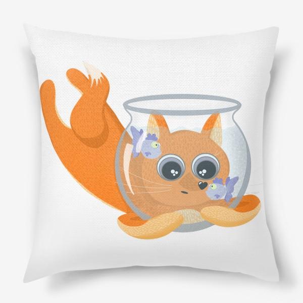 Подушка «Лиса фыр-фыр с аквариумом»