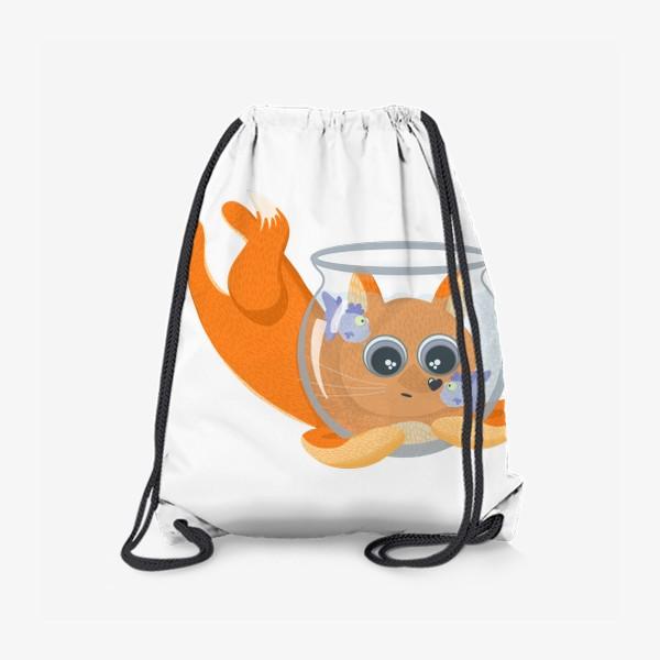 Рюкзак «Лиса фыр-фыр с аквариумом»