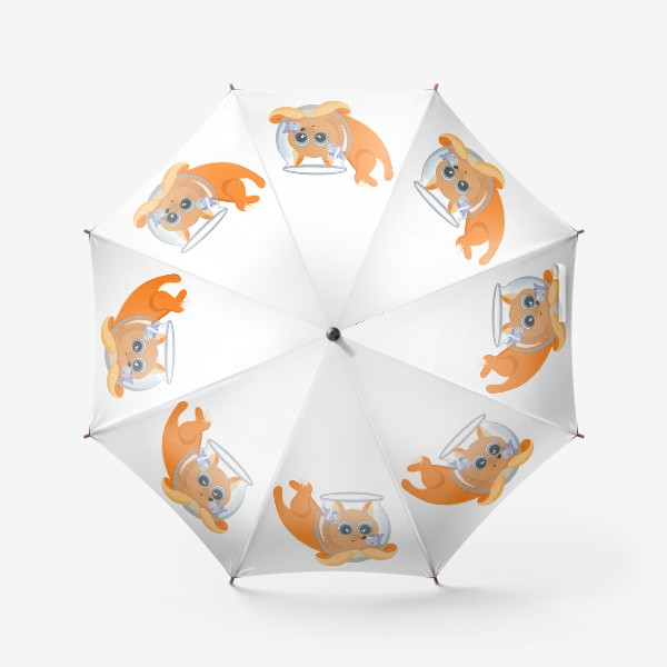Зонт «Лиса фыр-фыр с аквариумом»