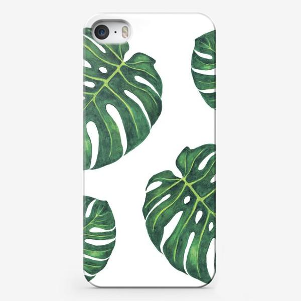 Чехол iPhone «Монстера на белом»