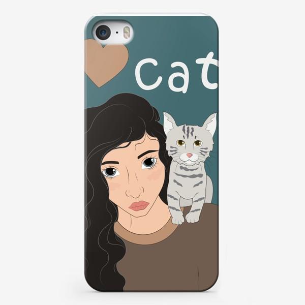 Чехол iPhone «I love cats»