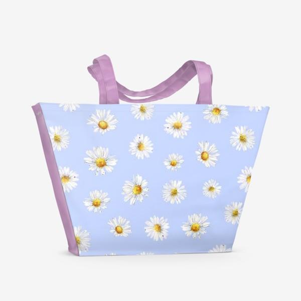 Пляжная сумка «Паттерн Ромашки»