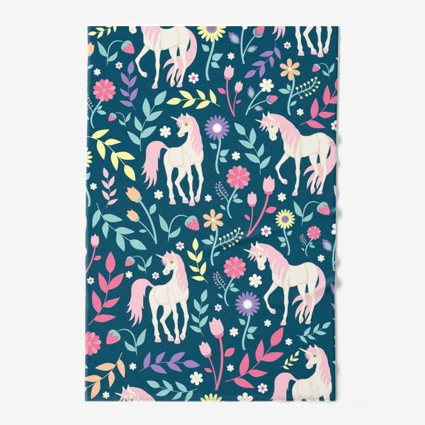 Полотенце «Fairy unicorns and flowers »
