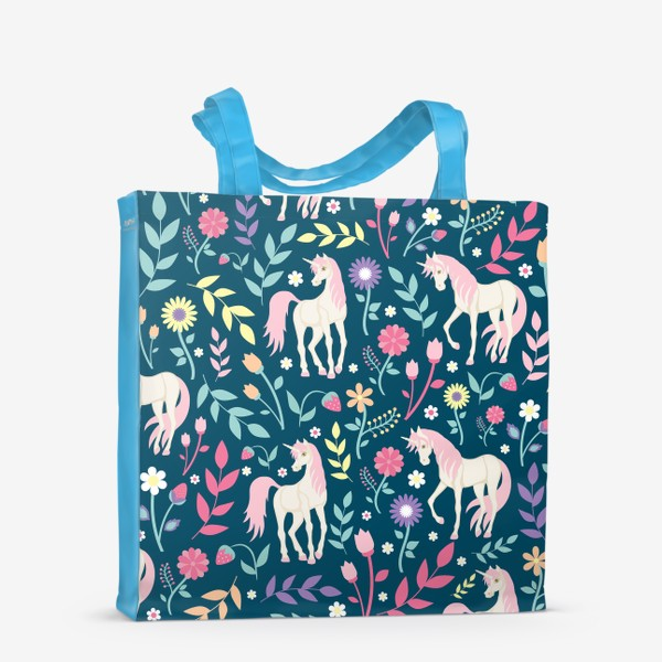 Сумка-шоппер «Fairy unicorns and flowers »