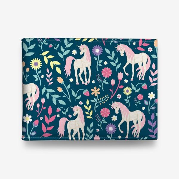 Кошелек «Fairy unicorns and flowers »