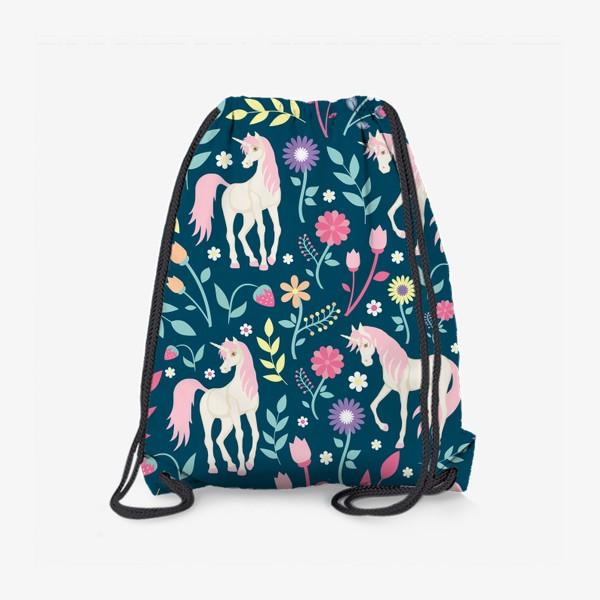 Рюкзак «Fairy unicorns and flowers »