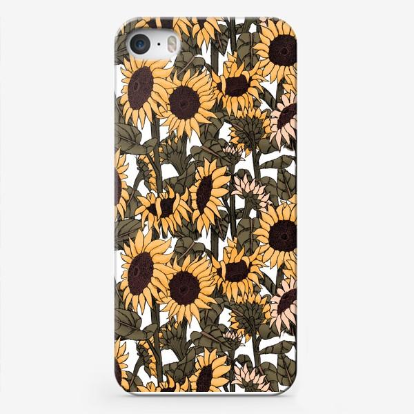 Чехол iPhone «Подсолнухи оранжевые»